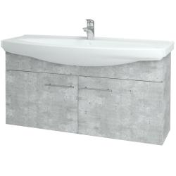 Dřevojas - Koupelnová skříň TAKE IT SZD2 120 - D01 Beton / Úchytka T02 / D01 Beton (133511B)