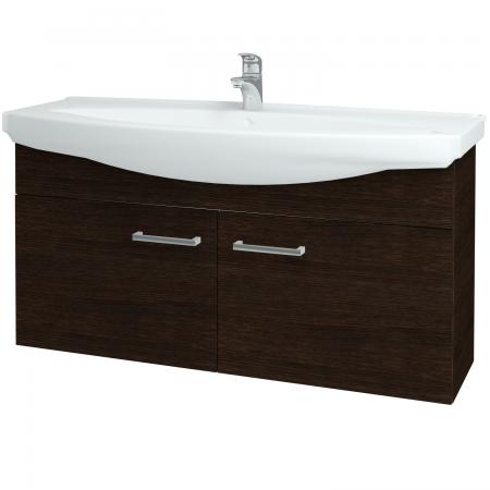 Dřevojas - Koupelnová skříň TAKE IT SZD2 120 - D08 Wenge / Úchytka T03 / D08 Wenge (133573C)