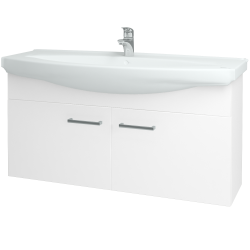 Dřevojas - Koupelnová skříň TAKE IT SZD2 120 - N01 Bílá lesk / Úchytka T03 / N01 Bílá lesk (133627C)