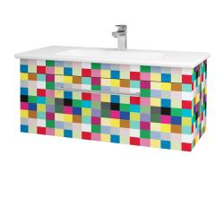 Dřevojas - Koupelnová skříň ASTON SZZ 100 - IND Individual / Úchytka T03 / IND Individual (109332C)