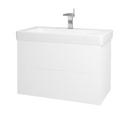 Dřevojas - Koupelnová skříň VARIANTE SZZ2 85 - N01 Bílá lesk / L01 Bílá vysoký lesk (164188)