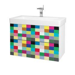Dřevojas - Koupelnová skříň VARIANTE SZZ2 85 - N01 Bílá lesk / IND Individual (164171)