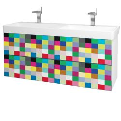 Dřevojas - Koupelnová skříň VARIANTE SZZ4 130 - N01 Bílá lesk / IND Individual (165277)