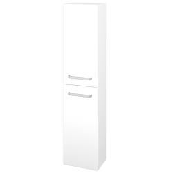 Dřevojas - Skříň vysoká DOS SV1D2 35 - N01 Bílá lesk / Úchytka T01 / L01 Bílá vysoký lesk / Levé (155995A)