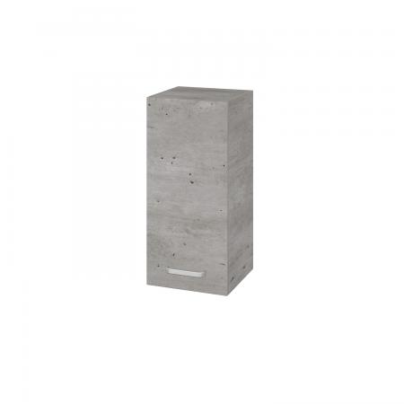 Dřevojas - Skříň horní DOS SYD 35 - D01 Beton / Úchytka T01 / D01 Beton / Levé (156596A)