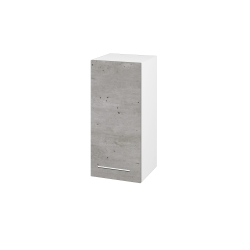 Dřevojas - Skříň horní DOS SYD 35 - N01 Bílá lesk / Úchytka T02 / D01 Beton / Levé (156718B)