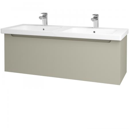 Dřevojas - Koupelnová skříň COLOR SZZ 125 - L04 Béžová vysoký lesk / L04 Béžová vysoký lesk (146672)