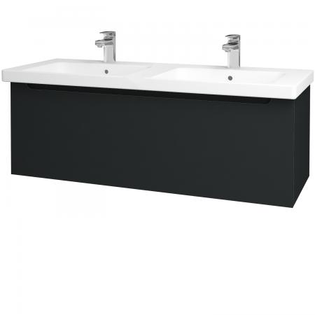 Dřevojas - Koupelnová skříň COLOR SZZ 125 - L03 Antracit vysoký lesk / L03 Antracit vysoký lesk (146665)