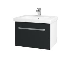 Dřevojas - Koupelnová skříň BIG INN SZZ 65 - N01 Bílá lesk / Úchytka T01 / L03 Antracit vysoký lesk (149550A)