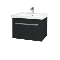 Dřevojas - Koupelnová skříň BIG INN SZZ 65 - L03 Antracit vysoký lesk / Úchytka T01 / L03 Antracit vysoký lesk (149574A)