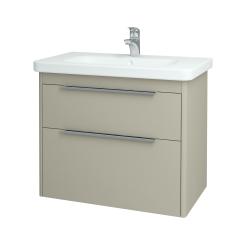 Dřevojas - Koupelnová skříň ENZO SZZ2 80 - M05 Béžová mat / M05 Béžová mat (146528)