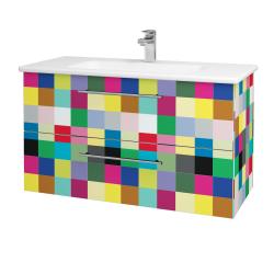 Dřevojas - Koupelnová skříň GIO SZZ2 100 - IND Individual / Úchytka T02 / IND Individual (129873B)