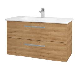 Dřevojas - Koupelnová skříň GIO SZZ2 100 - D09 Arlington / Úchytka T01 / D09 Arlington (129811A)