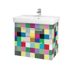 Dřevojas - Koupelnová skříň Q MAX SZZ2 70 - IND Individual / Úchytka T03 / IND Individual (115463C)