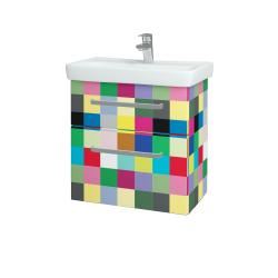 Dřevojas - Koupelnová skříň GO SZZ2 60 - IND Individual / Úchytka T01 / IND Individual (148645A)