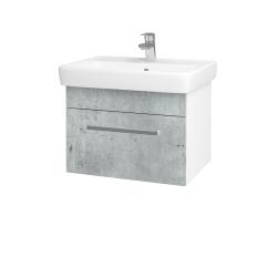 Dřevojas - Koupelnová skříň Q UNO SZZ 60 - N01 Bílá lesk / Úchytka T01 / D01 Beton (150532A)