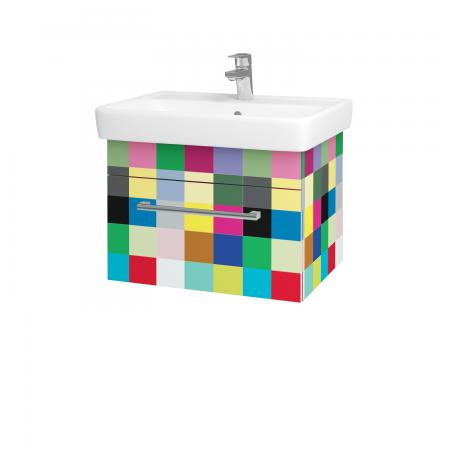 Dřevojas - Koupelnová skříň Q UNO SZZ 60 - IND Individual / Úchytka T03 / IND Individual (150662C)