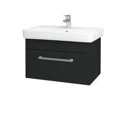 Dřevojas - Koupelnová skříň Q UNO SZZ 70 - L03 Antracit vysoký lesk / Úchytka T03 / L03 Antracit vysoký lesk (150785C)