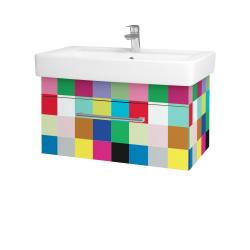 Dřevojas - Koupelnová skříň Q UNO SZZ 80 - IND Individual / Úchytka T03 / IND Individual (150921C)