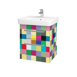Dřevojas - Koupelnová skříň Q MAX SZZ2 55 - IND Individual / Úchytka T01 / IND Individual (149253A)