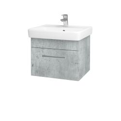Dřevojas - Koupelnová skříň Q UNO SZZ 55 - D01 Beton / Úchytka T03 / D01 Beton (150457C)