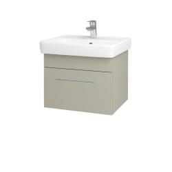 Dřevojas - Koupelnová skříň Q UNO SZZ 55 - L04 Béžová vysoký lesk / Úchytka T02 / L04 Béžová vysoký lesk (150518B)