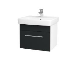 Dřevojas - Koupelnová skříň Q UNO SZZ 55 - N01 Bílá lesk / Úchytka T02 / L03 Antracit vysoký lesk (150488B)