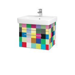 Dřevojas - Koupelnová skříň Q UNO SZZ 55 - IND Individual / Úchytka T02 / IND Individual (150525B)