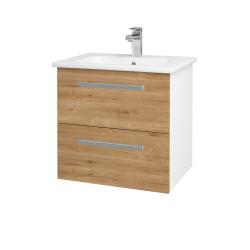 Dřevojas - Koupelnová skříň GIO SZZ2 60 - N01 Bílá lesk / Úchytka T01 / D09 Arlington (146238A)