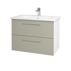 Dřevojas - Koupelnová skříň GIO SZZ2 80 - N01 Bílá lesk / Úchytka T01 / L04 Béžová vysoký lesk (146337A)