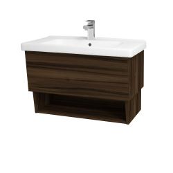 Dřevojas - Koupelnová skříň INVENCE SZZO 80 (umyvadlo Harmonia) - D06 Ořech / D06 Ořech (147181)