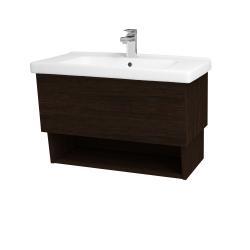 Dřevojas - Koupelnová skříň INVENCE SZZO 80 (umyvadlo Harmonia) - D08 Wenge / D08 Wenge (147198)