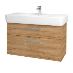 Dřevojas - Koupelnová skříň Q MAX SZZ2 100 - D09 Arlington / Úchytka T01 / D09 Arlington (144227A)