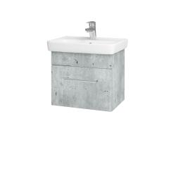 Dřevojas - Koupelnová skříň SOLO SZZ 50 - D01 Beton / Úchytka T03 / D01 Beton (150037C)