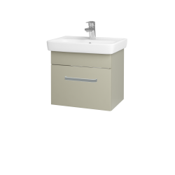 Dřevojas - Koupelnová skříň SOLO SZZ 50 - L04 Béžová vysoký lesk / Úchytka T01 / L04 Béžová vysoký lesk (150099A)