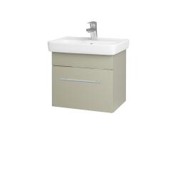 Dřevojas - Koupelnová skříň SOLO SZZ 50 - L04 Béžová vysoký lesk / Úchytka T02 / L04 Béžová vysoký lesk (150099B)