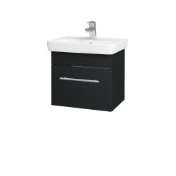 Dřevojas - Koupelnová skříň SOLO SZZ 50 - L03 Antracit vysoký lesk / Úchytka T02 / L03 Antracit vysoký lesk (150082B)