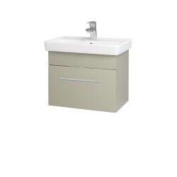 Dřevojas - Koupelnová skříň SOLO SZZ 55 - L04 Béžová vysoký lesk / Úchytka T02 / L04 Béžová vysoký lesk (150235B)