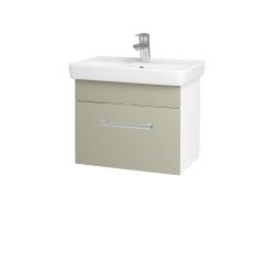 Dřevojas - Koupelnová skříň SOLO SZZ 55 - N01 Bílá lesk / Úchytka T03 / L04 Béžová vysoký lesk (150211C)