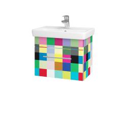 Dřevojas - Koupelnová skříň SOLO SZZ 55 - IND Individual / Úchytka T02 / IND Individual (150242B)