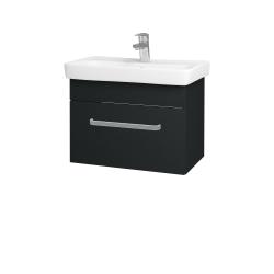 Dřevojas - Koupelnová skříň SOLO SZZ 60 - L03 Antracit vysoký lesk / Úchytka T01 / L03 Antracit vysoký lesk (150365A)