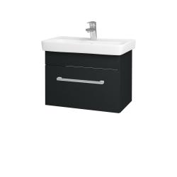 Dřevojas - Koupelnová skříň SOLO SZZ 60 - L03 Antracit vysoký lesk / Úchytka T03 / L03 Antracit vysoký lesk (150365C)
