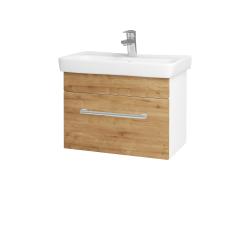 Dřevojas - Koupelnová skříň SOLO SZZ 60 - N01 Bílá lesk / Úchytka T03 / D09 Arlington (150266C)