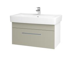 Dřevojas - Koupelnová skříň Q UNO SZZ 80 - N01 Bílá lesk / Úchytka T03 / L04 Béžová vysoký lesk (150914C)