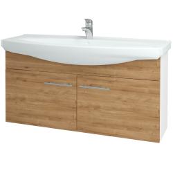 Dřevojas - Koupelnová skříň TAKE IT SZD2 120 - N01 Bílá lesk / Úchytka T02 / D09 Arlington (152352B)