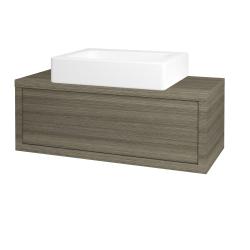 Dřevojas - Koupelnová skříň STORM SZZ 100 (umyvadlo Kube) - D03 Cafe / D03 Cafe (168360)