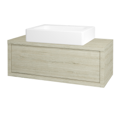 Dřevojas - Koupelnová skříň STORM SZZ 100 (umyvadlo Kube) - D05 Oregon / D05 Oregon (168384)