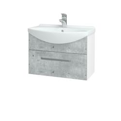 Dřevojas - Koupelnová skříň TAKE IT SZZ 65 - N01 Bílá lesk / Úchytka T01 / D01 Beton (152376A)