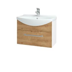 Dřevojas - Koupelnová skříň TAKE IT SZZ 65 - N01 Bílá lesk / Úchytka T03 / D09 Arlington (152444C)
