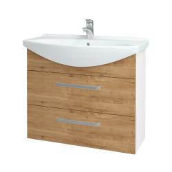 Dřevojas - Koupelnová skříň TAKE IT SZZ2 85 - N01 Bílá lesk / Úchytka T01 / D09 Arlington (153076A)